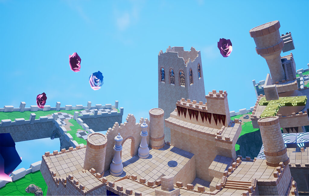 An overview of one of Balan Wonderworld's levels.